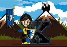 K est pour le chevalier Illustration de Vecteur