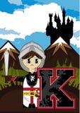 K est pour le chevalier Illustration Libre de Droits