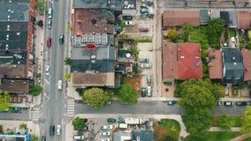 4K Establishing shot of an intersection in Downtown Toronto.