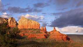 4K Evening Sun in Sedona, Arizona Zoom In Stock Photo