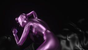 4K extracto A I Inteligencia artificial con una forma femenina metrajes