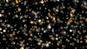 4k fajerwerków lekkich kropek Abstrakcjonistyczny tło, bąbel cząsteczki, bakteria zarodniki zbiory