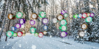 4k , Falling snow in the winter forest, CINEMAGRAPH. 4k , loop, Falling snow in the winter forest, CINEMAGRAPH stock video footage