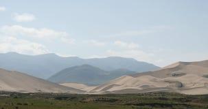 4k far away Desert & grassland scenery,plateau landform,Qinghai,northwest China. stock video footage