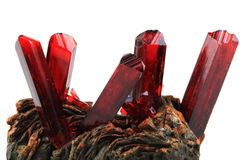 K3 [Fe (CN)6] potassium-ferricyan ide crystal Royalty Free Stock Image