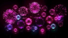 4K - Feuerwerke Feiertagsfeier, große Feuerwerke nachts Feiertag Version 17 vektor abbildung