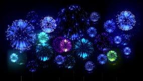 4K - Feuerwerke Feiertagsfeier, große Feuerwerke nachts Feiertag Version 19 stock video footage