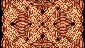 4k fogo Mandala Background Loop celta