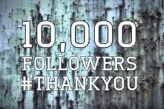 10k followers banner royalty free stock images
