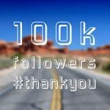 100k followers