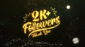 2K+ Followers Text Greeting Wishes Sparklers Particles Night Sky Firework