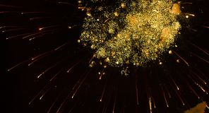 Footage New Year celebration fireworks at night sky stock footage