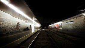 4k Footage Old Vienna underground Tram timelapse footage stock video
