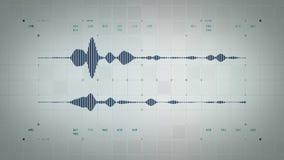4K forma de onda audio Lite azul estéreo ilustración del vector