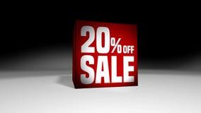 4K 60 fps圈 黑星期五和网络星期一销售红色立方体20%折扣 影视素材