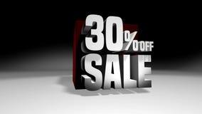 4K 60 fps圈 黑星期五和网络星期一销售红色立方体30%折扣 股票录像