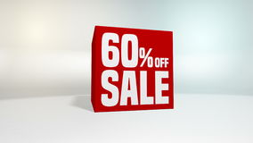 4K 60 fps loop. Black friday and cyber monday sale red cube 60 percent discount. stock footage