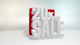 4K 60 fps pętla Czarny Piątku i cyber Poniedziałku sprzedaży czerwony sześcian 20 procentów rabat zdjęcie wideo