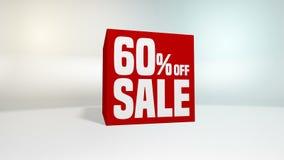 4K 60 fps pętla Czarny Piątku i cyber Poniedziałku sprzedaży czerwony sześcian 60 procentów rabat zbiory