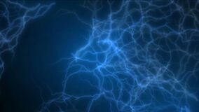 4k fulmine corrente astratto, energia magnetica di potere, fuochi d'artificio delle particelle degli ioni illustrazione di stock