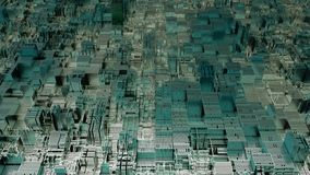 4K Futuristic Abstract CPU Tech Background.