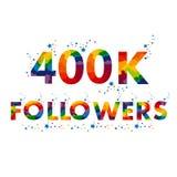 400K fyrahundra tusen anhängare stock illustrationer