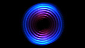 4k gör sammandrag hålet för cirkeln för techturbinrundan, den runda tidtunnelen för cirkeln, energitech arkivfilmer