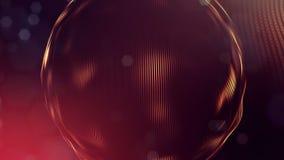 4k geef van gloeddeeltjes terug als abstracte naadloze dynamische achtergrond met diepte van gebied en bokeh Science fiction of stock footage