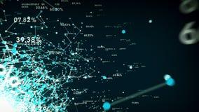 4K gegevens en Netwerkenblauw vector illustratie