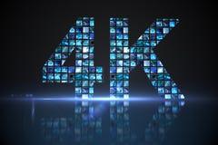 4k gemaakt van de digitale schermen in blauw Royalty-vrije Stock Afbeeldingen