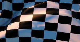 4K geruite vlag stock footage