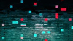 4K gestileerde glitch van het pixellawaai foutenschade stock video