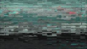 4K gestileerde glitch van het pixellawaai foutenschade stock footage