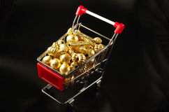 24k Gold Beads Antique. 24K antique gold beads yellow bright colors fashion necklace bracelet shopping cart Stock Image