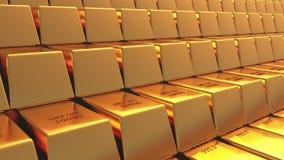 4k Gold bullion gold bars treasury wealth Ingot luxury finance goods trading. stock footage