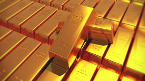 4k Gold bullion gold bars treasury wealth Ingot luxury finance goods trading.