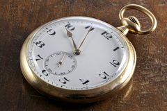 14k gold pocket watch Royalty Free Stock Images