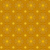 24 K Golden flowers pattern. Flowers in gold. Seamless repeating vector pattern of golden geometric flowers over a gold background. The design was created using Royalty Free Stock Photo