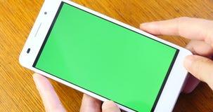 4k Green Screen Smartphon,Smartphone Touchscreen Device Finger Gesture,Chrome Key. stock video