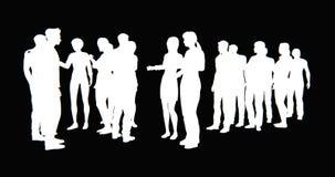 4k grupa ludzie biznesu sylwetki opowiadać royalty ilustracja