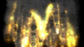 4k grupa pociski wszczynający, natura wulkanu erupcja, wojenna scena, dzień zagłady ilustracja wektor