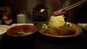 4K Gyukatsu z Miso Wyśmienicie smażąca crispy wołowina Japo?ska karmowa restauracja zbiory