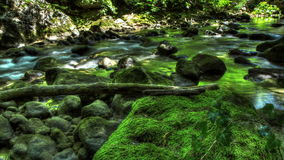 4k. HDR Time Lapse Stream Of Water In Nature stock video