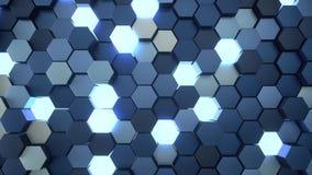 4K heksagonalna siatka ilustracji