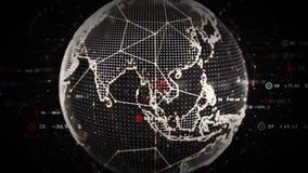 4K het digitale Platina van Wereldgegevens stock illustratie