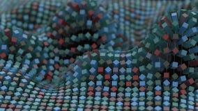 4K het kleurrijke netwerk van de netwerkmolecule royalty-vrije illustratie