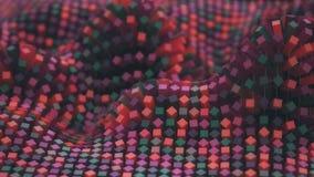 4K het kleurrijke netwerk van de netwerkmolecule stock illustratie