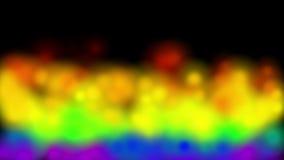 4k het kleurrijke puntenvuurwerk, festival viert het deeltjes warme stoom van de brandglimworm royalty-vrije illustratie