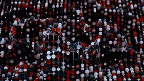 4K het Netwerk van de netwerkmolecule vector illustratie
