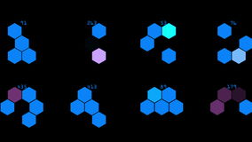 4k Hexagon chemical molecular,data information analysis geometry background. royalty free illustration